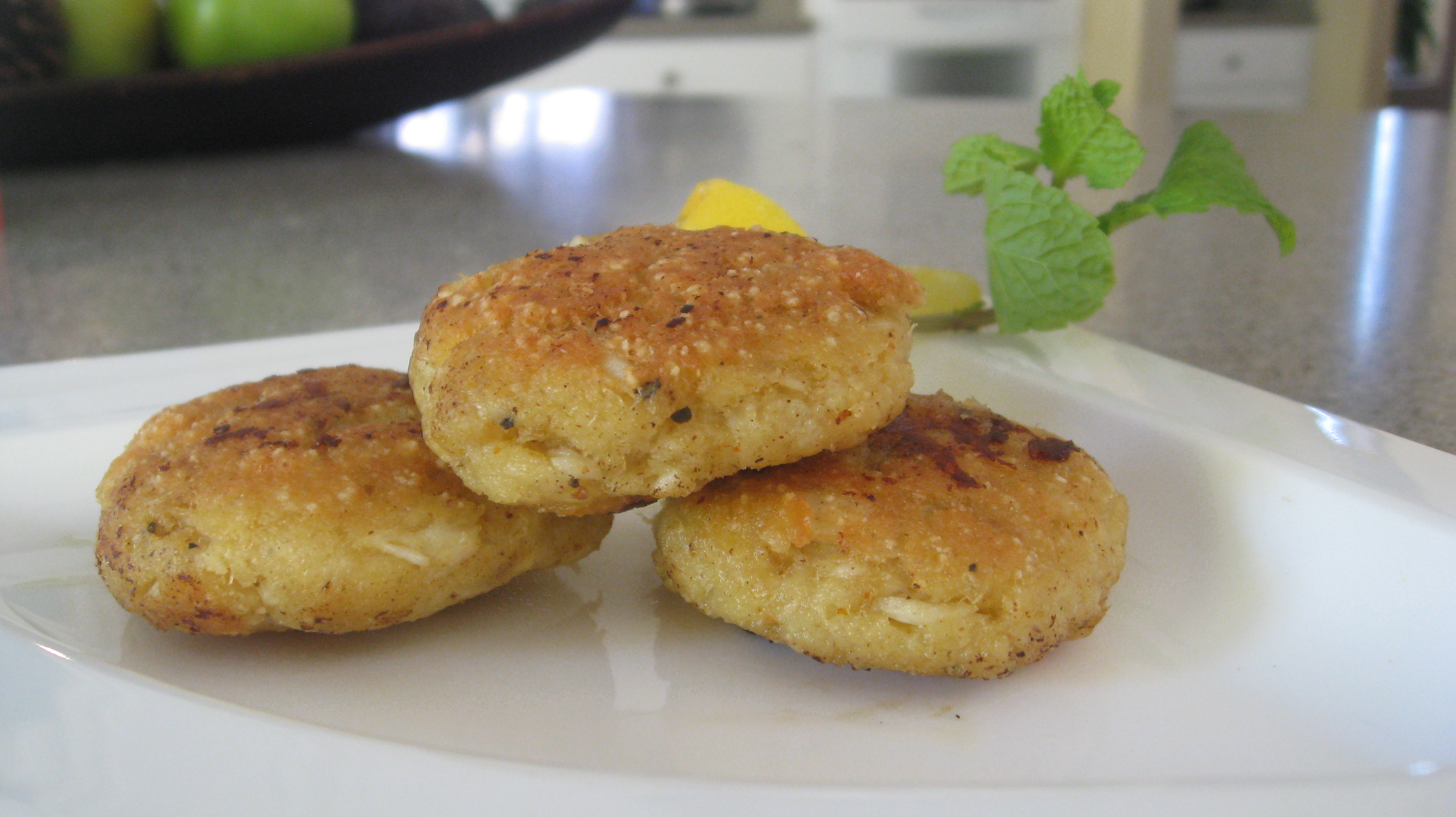 my own gluten free crab cakes and omg these are really good why did i ...