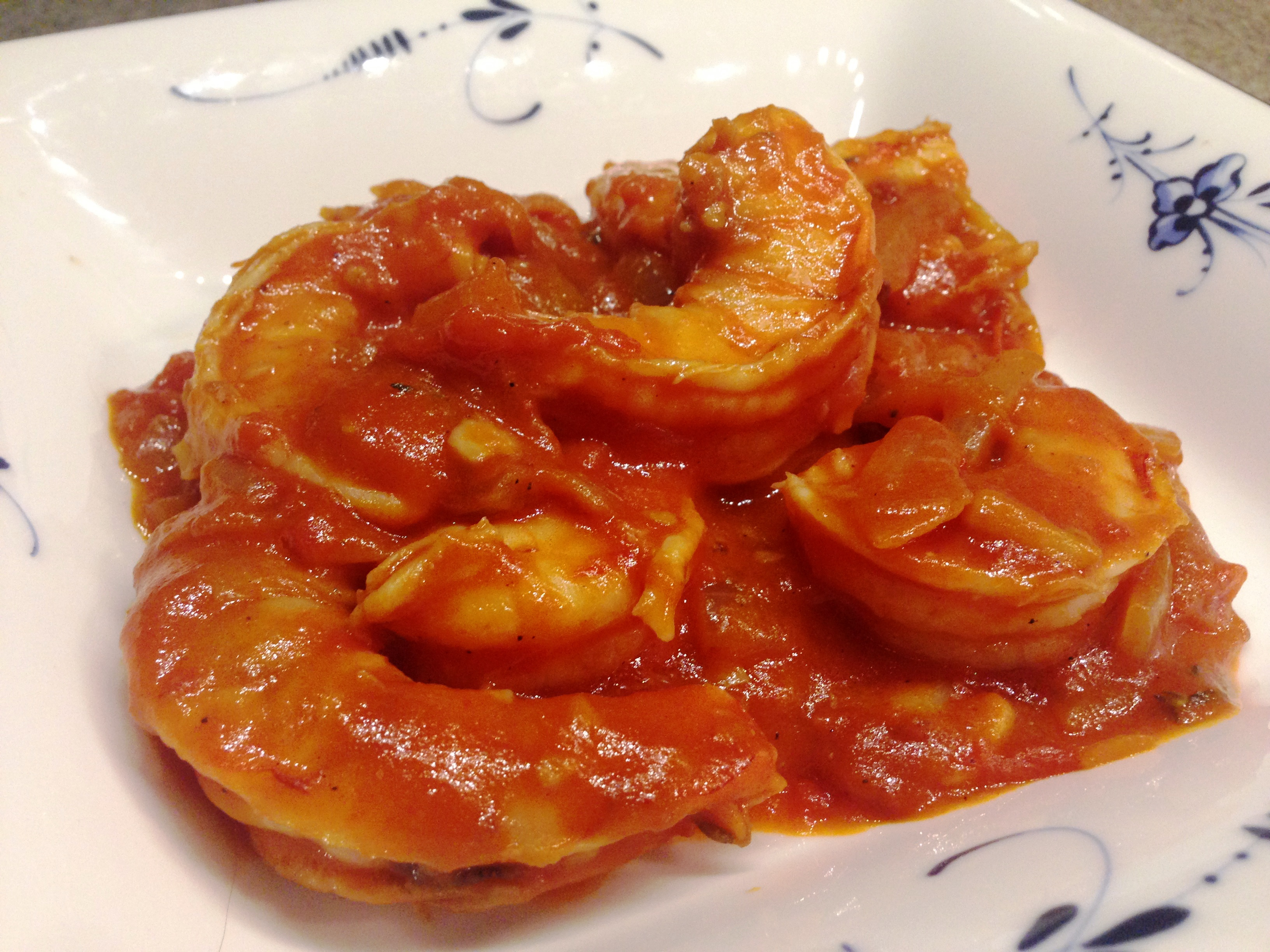 Jumbo Prawns In Silky Tomato Sauce Nutty Kitchen